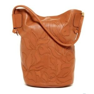 NWT Foley + Corinna Lilli Leather Bucket Tote